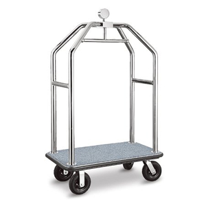 304 Stainless Steel Hotel lobby movable wheeled Luggage Cart