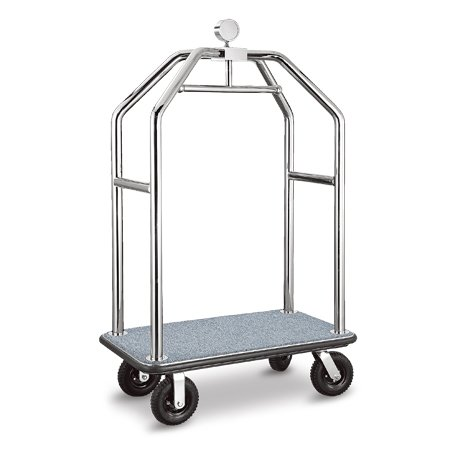 Luxury 304 Stainless Steel Hotel Luggage Cart