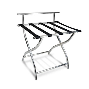 Hotel Guest Room 201 SS Foldable Luggage Rack with Back Support