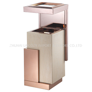 Hotel lobby rose gold marble indoor dustbins