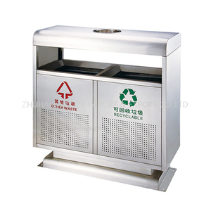 Stainless steel outdoor bins for recycling classified