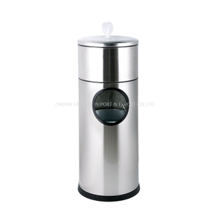 Stainless Steel Gym Hand Wipe Dispenser Station Stand