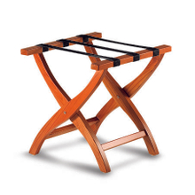 Hotel Modern Style Solid Wood Folding Luggage Rack Foldable Wooden Luggage Rack without Back Support for Guest Room