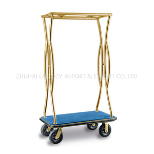 Luxury 304 Stainless Steel Luggage Cart for Hotel