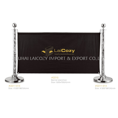 Hotel name Logo Display Stanchion Banner