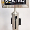 Black crowd control retractable belt queue stand barriers