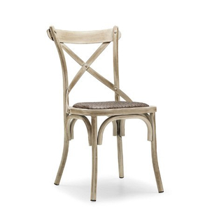Modern Design Hotel Restaurant Wood Grain Steel Banquet Chair