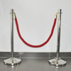 Crowd control barrier twisted stanchion poly ropes for event