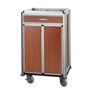 Hotel Aluminum Beverage Restock Trolley with Door